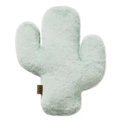 ugg cactus bloom faux fur throw pillow in mint