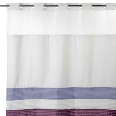 https www bedbathandbeyond com store product hookless 71 inch x 74 inch shower curtain and liner in amethyst 1041213322