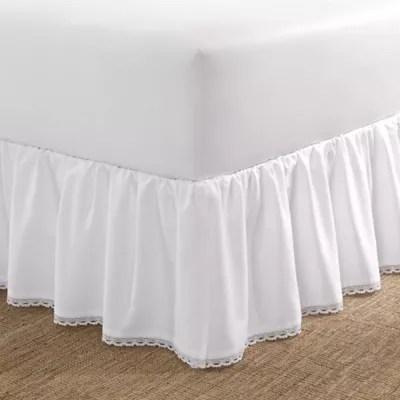 linenweave hemstitch bed skirt