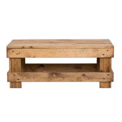 rustic pine coffee table bed bath