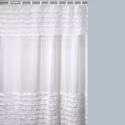 standard white eyelet shower curtain by