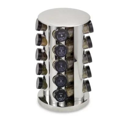 stainless steel 20 jar filled revolving