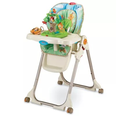 rainforest high chair folding table and set fisher price healthy care bed bath beyond
