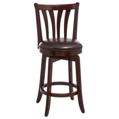 kitchen stools with backs cabinet ideas counter swivel metal leather bar bed bath hillsdale whitman stool
