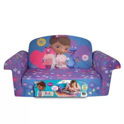 disney flip open sofa bed maroon covers spin master marshmallow doc mcstuffins
