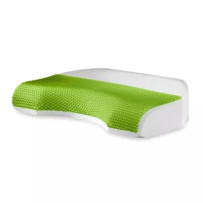 comfort revolution body cove cooling gel memory foam pillow for back side sleepers