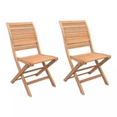 folding wooden chairs nova transport chair parts westerly acacia wood set of 2 bed bath beyond