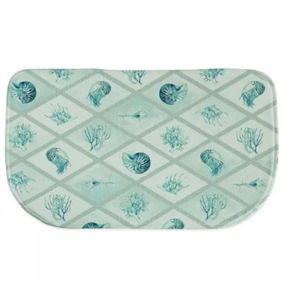 teal kitchen rugs mixers bacova 18 inch x 29 5 diamond ocean memory foam rug bed bath and beyond canada