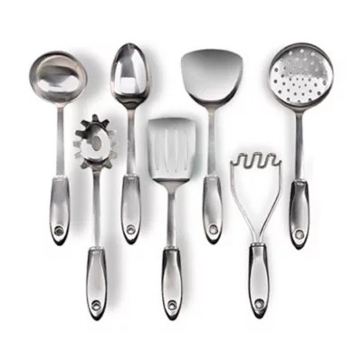 oxo kitchen utensils base cabinet cooking tools utensil sets bed bath steel