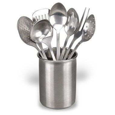 kitchen utensil sets island eight piece stainless steel set bed bath beyond