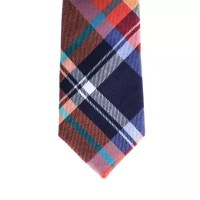 Urban Sunday Toddler Plaid Necktie in Orange/Red | buybuy BABY