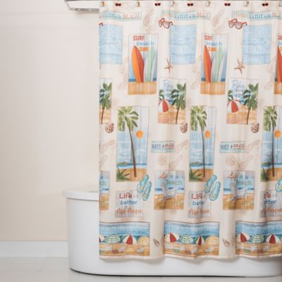 skl home beach time 70 inch x 72 inch shower curtain bed bath beyond