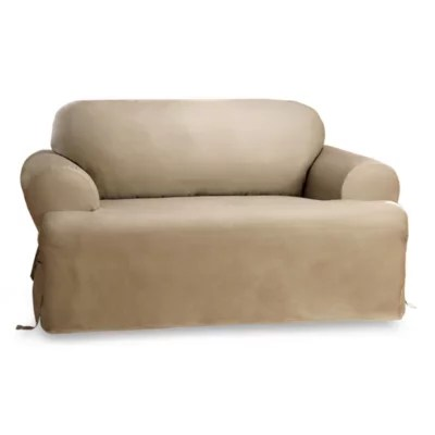 sofa covers toronto canada costco sectional loveseat bed bath and beyond duck linen t cushions furniture by sure fit