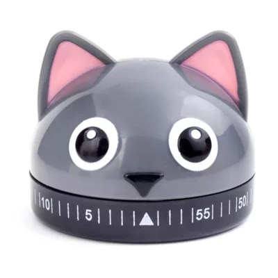 kitchen timers milos kikkerland cat timer in grey bed bath and beyond canada