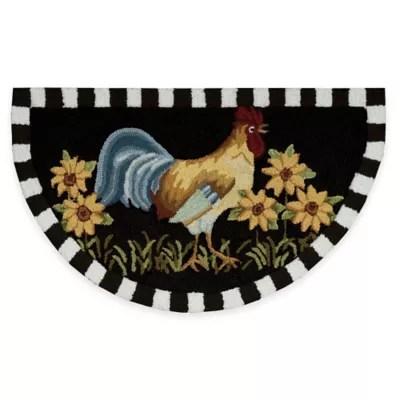 rooster kitchen rug cabinets storage ideas nourison 32 inch x 19 in black bed bath