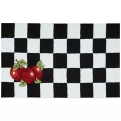 Black And White Kitchen Rug Electric Stoves Nourison Apple 33 Inch X 20 In Bed Bath Beyond