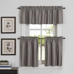 Kitchen Window Coverings Cabico Cabinets Newport Curtain Tier And Valance Bed Bath