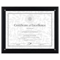 DAX 8.5-Inch x 11-Inch Award Plaque Frame in Black | Bed ...
