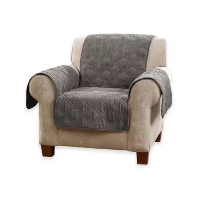 sure fit chair covers bed bath and beyond cushions at deluxe non skid waterproof seating cover