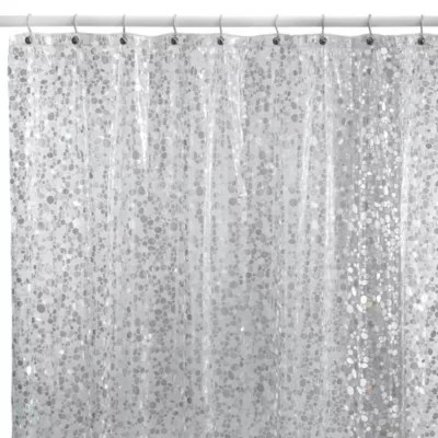 pebbles shower curtain in clear bed bath beyond