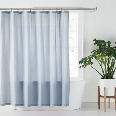 solid blue shower curtain fabric bed