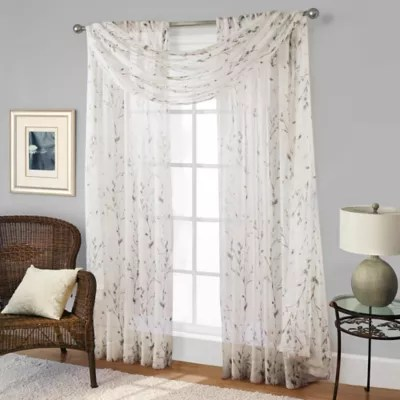 willow print window curtain panel bed
