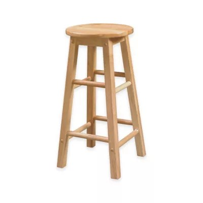 bar stool chair rung protectors large round foot rail protector bed bath beyond classic wood stools with seat in natural finish
