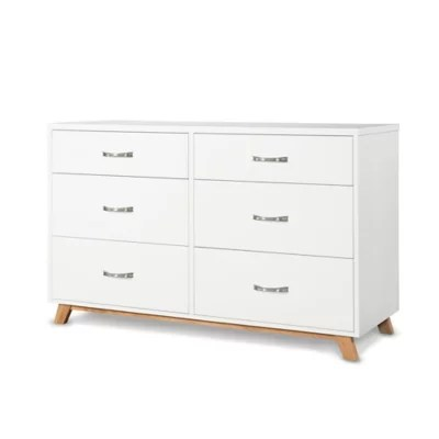 Child Craft Soho 6 Drawer Double Dresser In White Natural Buybuy Baby