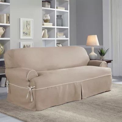 latest design sofa covers home styles modern craftsman table in oak slipcovers couch bed bath beyond perfect fit classic twill t slipcover