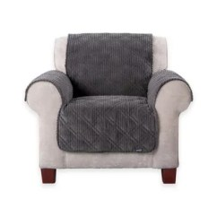 Sure Fit Chair Covers Bed Bath And Beyond Fake Eames Wide Wale Corduroy Furniture Cover In Graphite