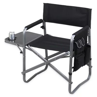 camping chairs with side table rattan for sale picnic at ascot aluminum folding chair bed