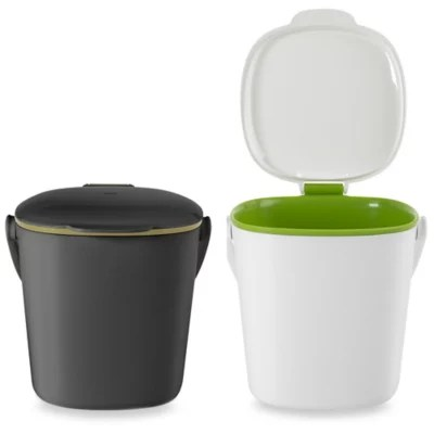 kitchen compost container island seating bed bath and beyond canada oxo good grips bin