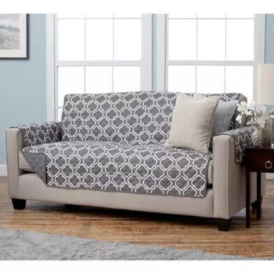 sofa covers toronto canada queen size sleepers furniture bed bath and beyond adalyn collection reversible protectors