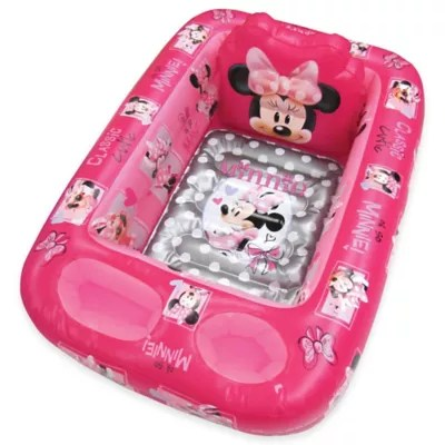 inflatable chair canada baby trend convertible high disney minnie mouse bath tub bed and beyond