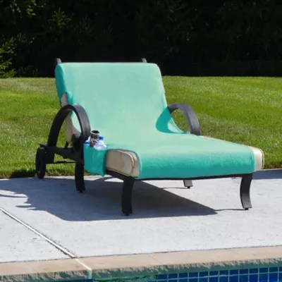 bed bath and beyond lounge chair cover outdoor with footrest terry cloth chaise covers linum home textiles accessory pockets