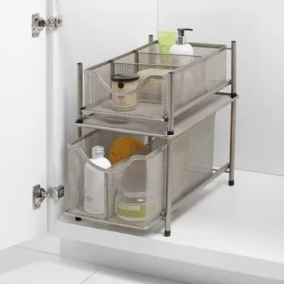 org under the sink mesh slide out cabinet drawer collection bed bath beyond
