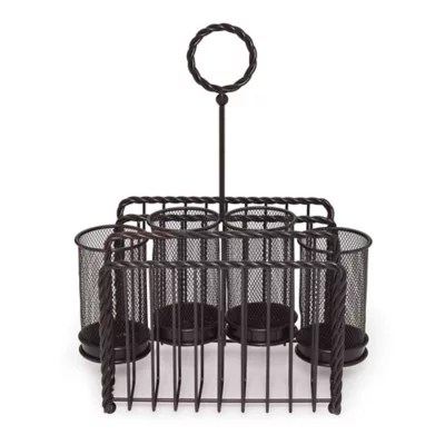 Gourmet Basics by Mikasa® Wire Rope Picnic Caddy in Black   Bed Bath & Beyond