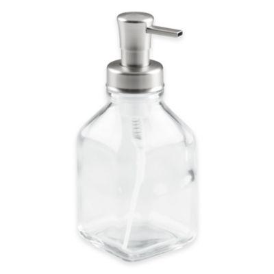 kitchen soap knives for sale dispensers pumps dish bed bath interdesign cora glass foaming dispenser pump