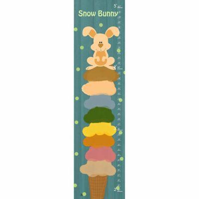 Green leaf art bunny ice cream growth chart in teal also bed bath  beyond rh bedbathandbeyond