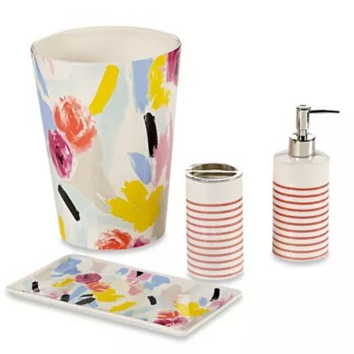 kate spade new york paintball floral bath ensemble
