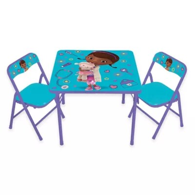 doc mcstuffin chair hanging wall bracket mcstuffins 3 piece activity table and chairs set bed bath beyond