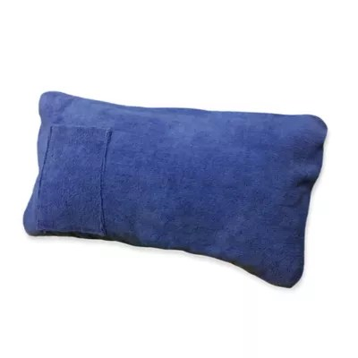 beach chair pillow with strap glider rocker and ottoman metal by child care boca chaise lounge throw in blue bed bath beyond