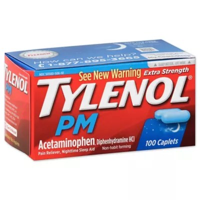 Tylenol® PM 100-Count Extra Strength Caplets | Bed Bath ...