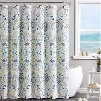 VCNY Amherst Shower Curtain in Yellow/Blue | Bed Bath & Beyond