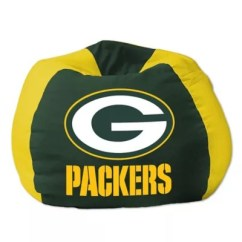 Green Bay Packers Chair White Desk Target Nfl Bean Bag By The Northwest Bed Bath