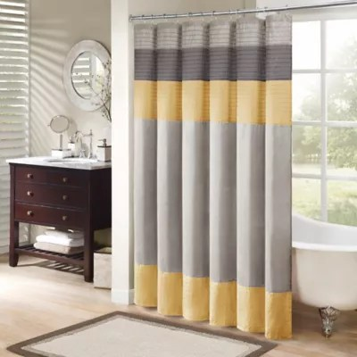 yellow shower curtain bed bath beyond