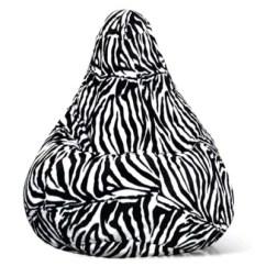 Zebra Print Bean Bag Chair Corduroy Adult Size Velvet In Bed Bath Beyond