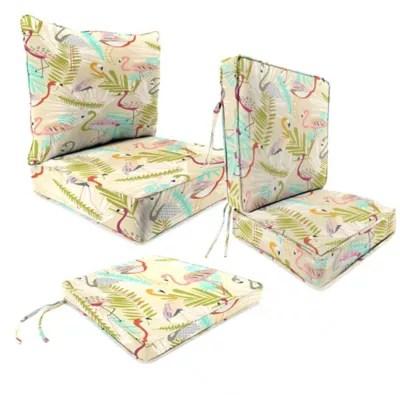 outdoor patio cushions in flamingos