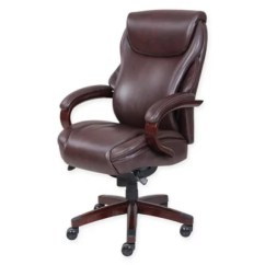 La Z Boy Trafford Big And Tall Executive Office Chair Vino Hair Stylist Chairs Hyland Leather In Coffee Bed Bath