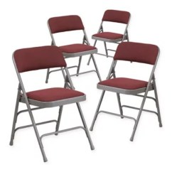 Cushioned Folding Chairs Wooden Lounge Padded Chair Bed Bath Beyond Flash Furniture Fabric 4 Pack In